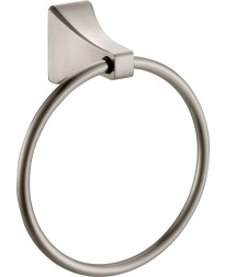 Shangri-La Towel Ring in Satin Nickel