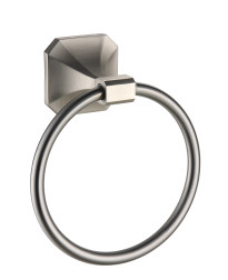Valhalla Towel Ring in Satin Nickel