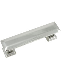 Poise 3-Inch Center to Center Pull with Back Plate in Polished Nickel