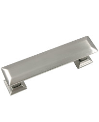 Poise 3-Inch Center to Center Pull with Back Plate in Satin Nickel