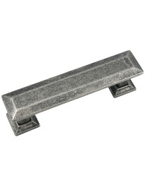 Poise 3-Inch Center to Center Pull with Back Plate in Distressed Pewter