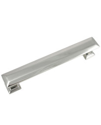 Poise 5-Inch Center to Center Pull with Back Plate in Polished Nickel