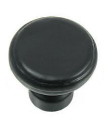 Large Button Knob - Riverstone - Satin Nickel