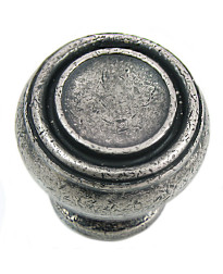 Balance 1 1/4-Inch Knob in Distressed Pewter