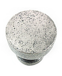 Precision 1 1/4-Inch Knob in Distressed Pewter