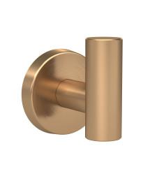 Arrondi Single Robe Hook in Brushed Bronze/Golden Champagne