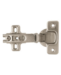 Full Overlay Frameless Concealed Nickel Hinge - 2 Pack