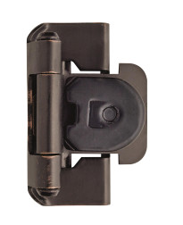 1/2in (13 mm) Overlay Double Demountable Oil-Rubbed Bronze Hinge - 2 Pack