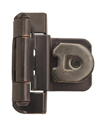 3/8in (10 mm) Inset Double Demountable Oil-Rubbed Bronze Hinge - 2 Pack