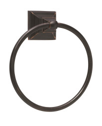 Markham 6-7/8 in (175 mm) Length Towel Ring in Oil-Rubbed Bronze