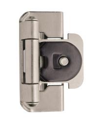 1/2in (13 mm) Overlay Double Demountable Satin Nickel Hinge - 2 Pack