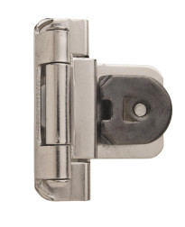 3/8in (10 mm) Inset Double Demountable Satin Nickel Hinge - 2 Pack