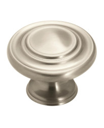 Inspirations 1-5/16 in (33 mm) Diameter Satin Nickel Cabinet Knob - 10 Pack