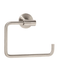 Arrondi 6-7/16 in (164 mm) Length Towel Ring in Stainless Steel
