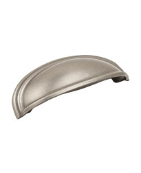Ashby 4 in (102 mm) & 3 in (76 mm) Center-to-Center Weathered Nickel Cabinet Cup Pull