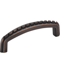 """Cypress 3"""" Centers Pull with Rope Detail in Brushed Oil Rubbed Bronze"""