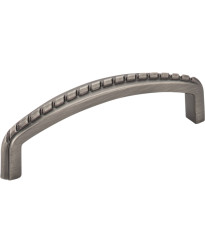"""Cypress 3 3/4"""" Centers Pull with Rope Detail in Brushed Pewter"""