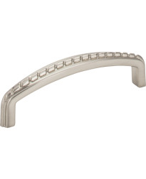 """Cypress 3 3/4"""" Centers Pull with Rope Detail in Satin Nickel"""